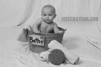 Little boy in the tub
